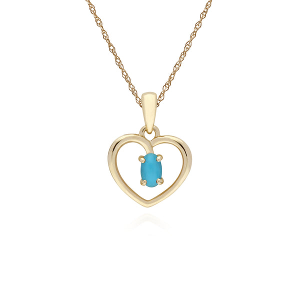 Classic Turquoise Heart Pendant Necklace Image 1