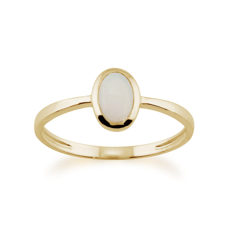 Classic Oval Opal Ring in 9ct Yellow Gold