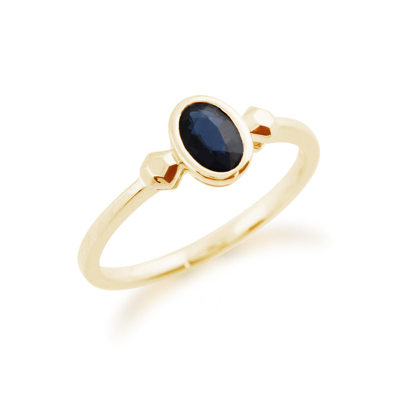 Gemondo 9ct Yellow Gold 0.57ct Sapphire Ring Image 3