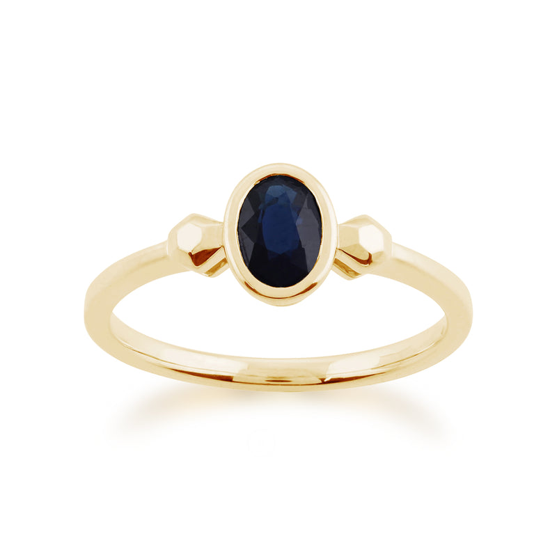 Gemondo 9ct Yellow Gold 0.57ct Sapphire Ring Image 1