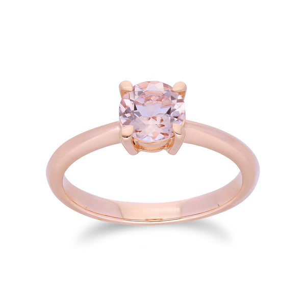 Morganite Solitaire Ring Image 1