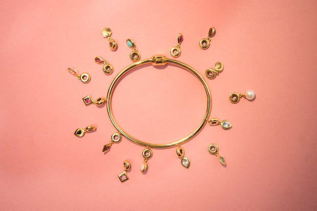 HS Achievement Bangle with charms