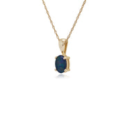 Classic Oval Triplet Opal Single Stone Pendant in 9ct Yellow Gold