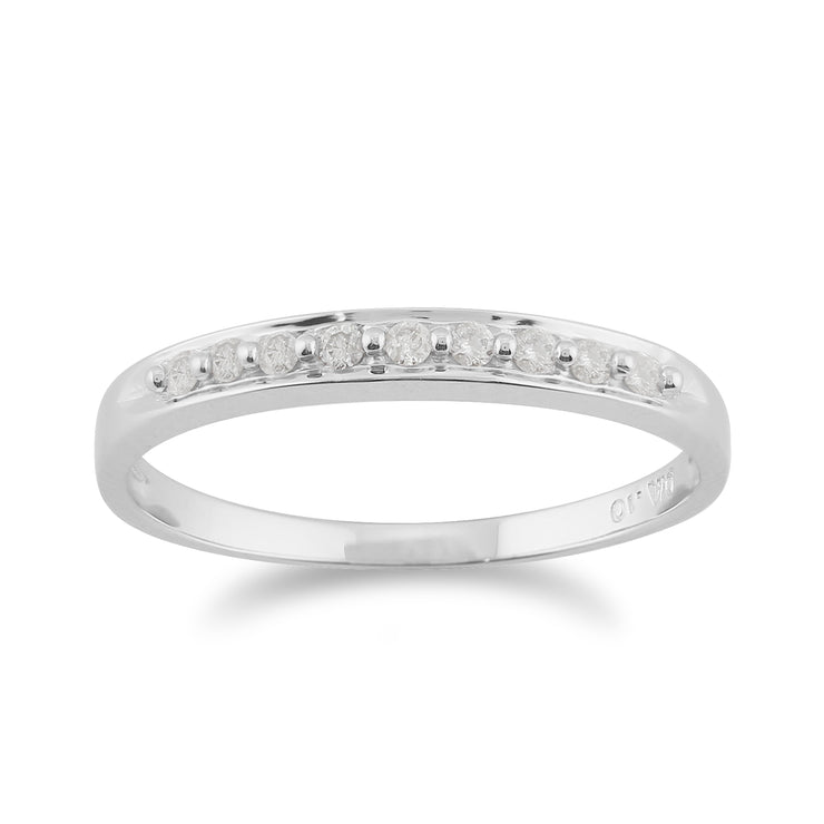 10ct White Gold Diamond Classic Style Eternity Ring