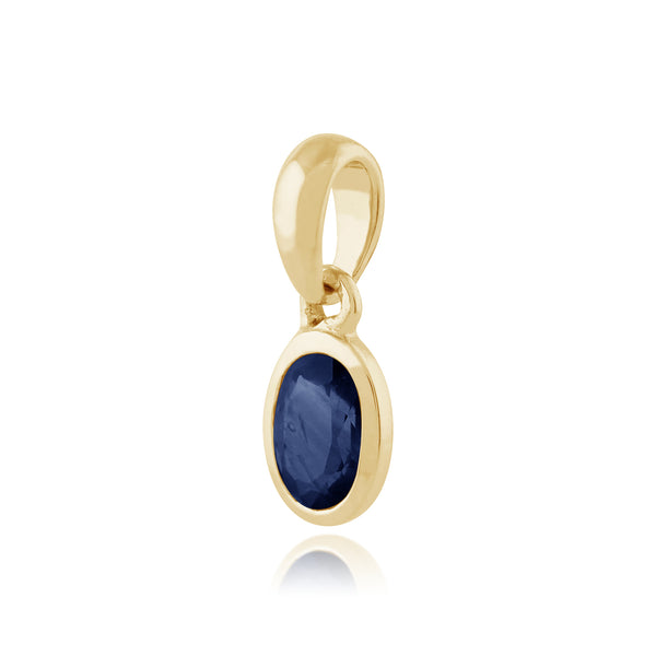 Classic Sapphire Pendant on Chain Image 2