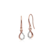 Gemondo 9ct Rose Gold Diamond Kiss Drop Earrings