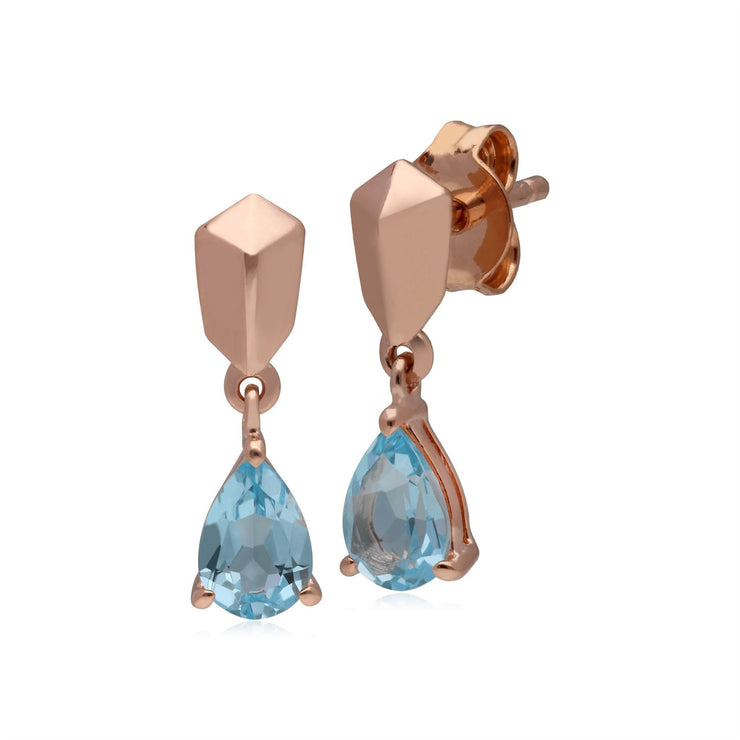 Micro Statement Topaz Earrings