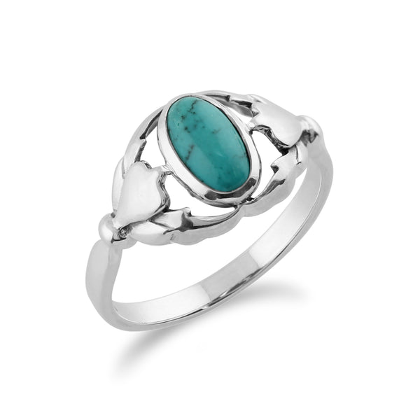 Gemondo 925 Sterling Silver 0.77ct Turquoise Ring Image 2