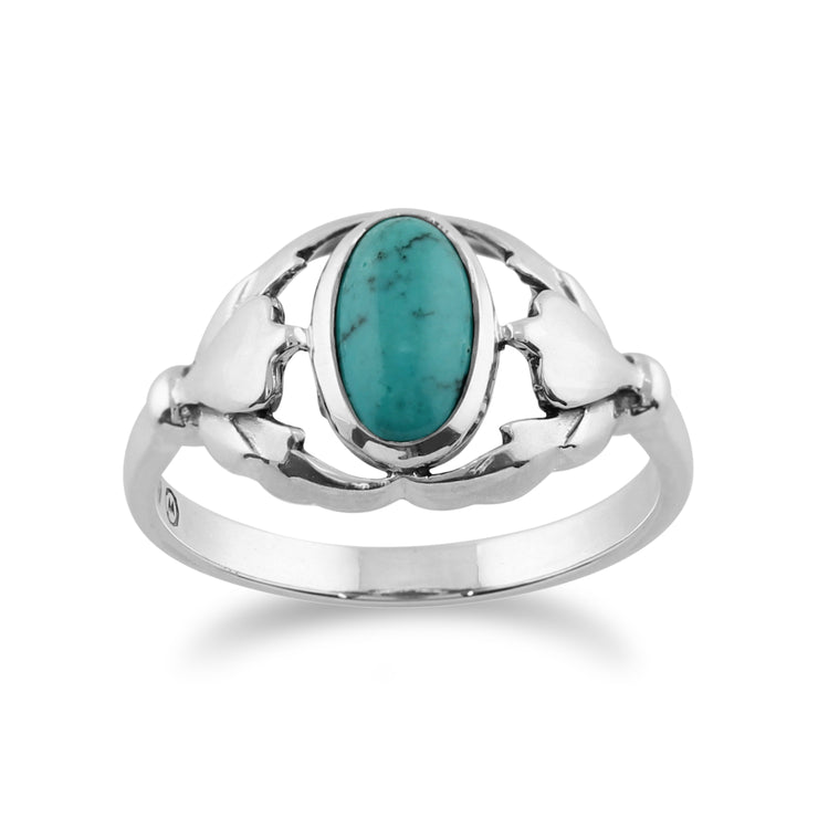 Gemondo 925 Sterling Silver 0.77ct Turquoise Ring Image 1