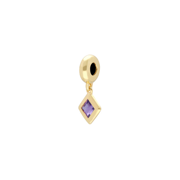 'Stone of Power' Gold Plated Amethyst Charm