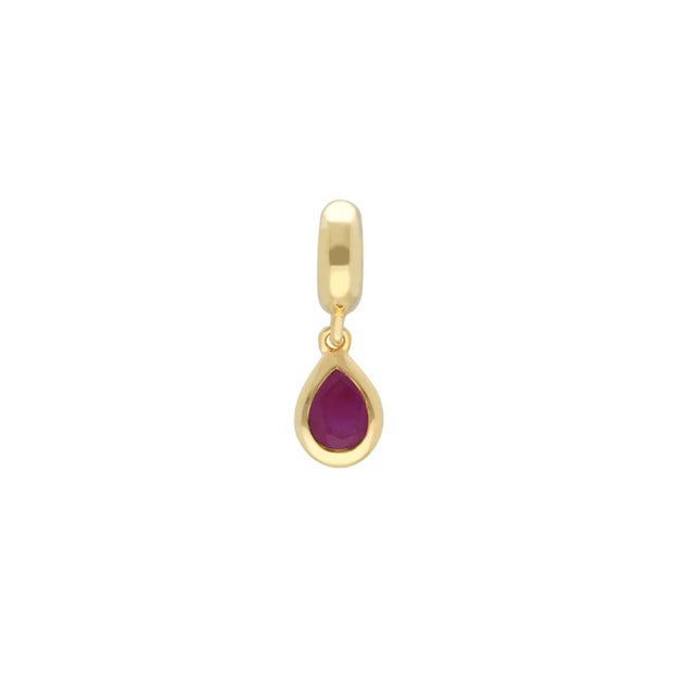 Gold Plated Ruby Charm