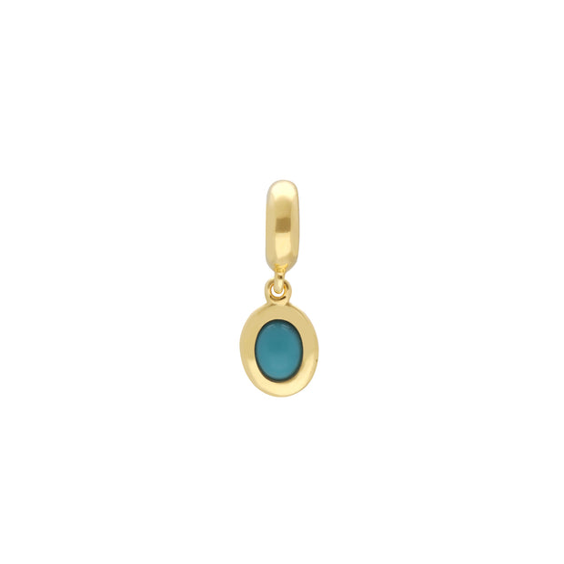Gold Plated Turquoise Charm