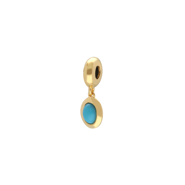'Stone of Protection' Gold Plated Turquoise Charm