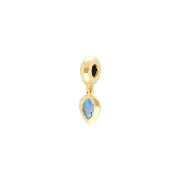 'Stone of Rebirth' Gold Plated Blue Topaz Charm