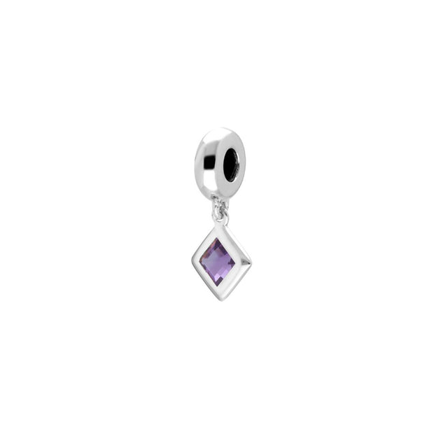'Stone of Power' Sterling Silver Amethyst Charm
