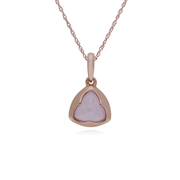 Rose Gold Plated Rose Quartz Prism Necklace Image 1