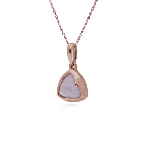 Rose Gold Plated Rose Quartz Prism Necklace Image 2