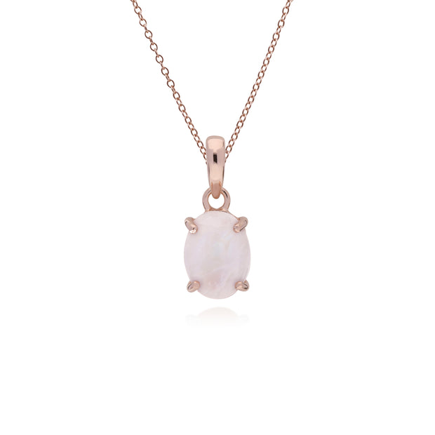 Classic Rose Quartz Stud Earrings & Pendant Set Image 3
