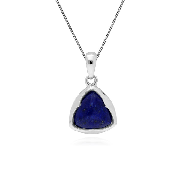 Gemondo Sterling Silver Prism Sugarloaf Lapis Lazuli Pendant on 45cm Chain