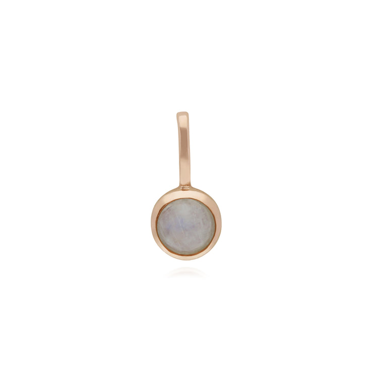 Gemondo Rose Gold Plated Sterling Silver Rainbow Moonstone Charm
