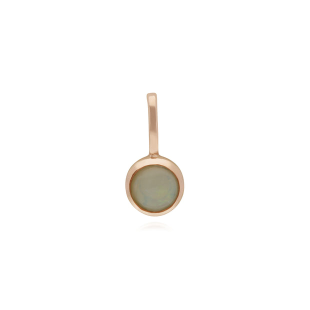 Gemondo Rose Gold Plated Sterling Silver Opal Charm