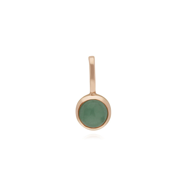 Gemondo Rose Gold Plated Sterling Silver Jade Charm