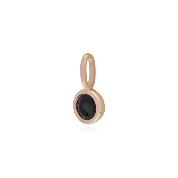 Gemondo Rose Gold Plated Sterling Silver Sapphire Charm