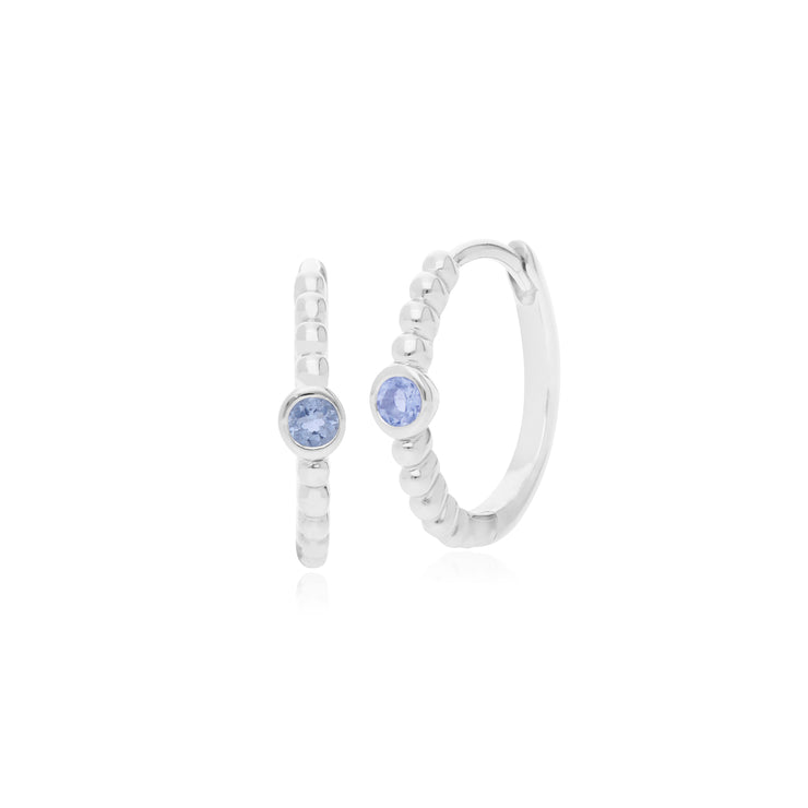 Gemondo Sterling Silver 0.10ct Tanzanite December Birthstone Hoop Earring