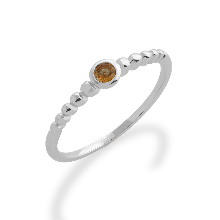 Essential Citrine Bezel Hoop Earrings & Ring Set Image 3
