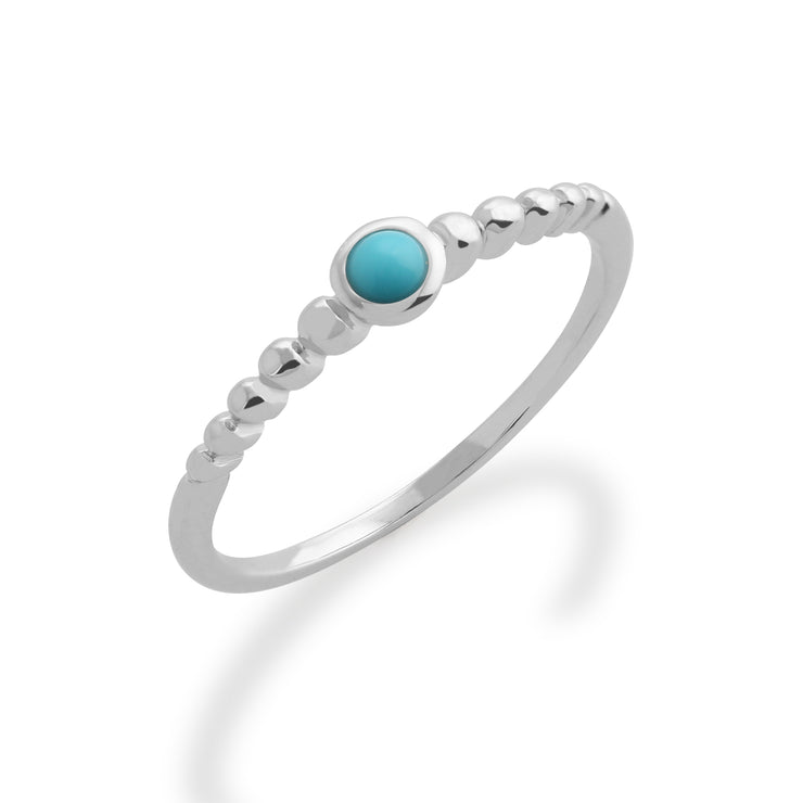 Essential Turquoise Bezel Hoop Earrings & Ring Set Image 3