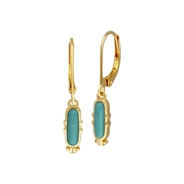 ECFEW™ Turquoise Talisman Hoop Earrings
