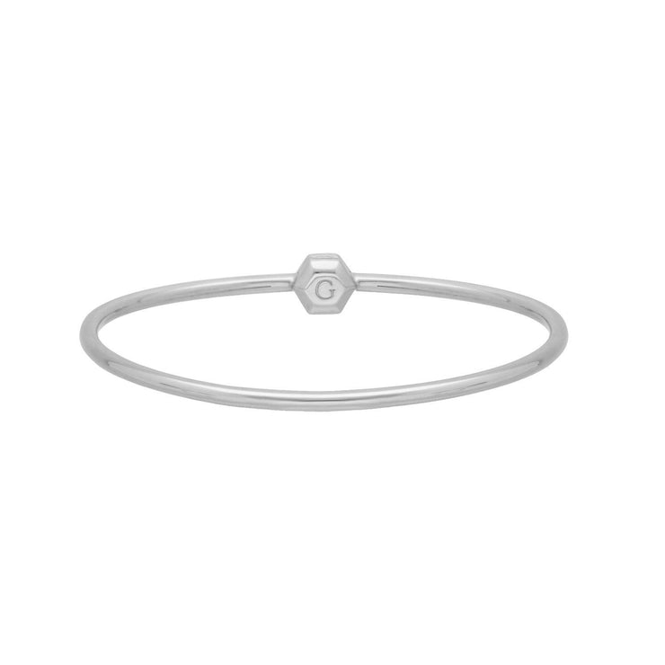 H S Achievement Bangle in Sterling Silver Medium