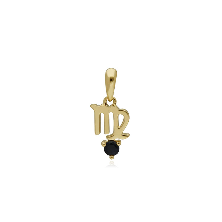 Sapphire Virgo Zodiac Charm in 9ct Yellow Gold