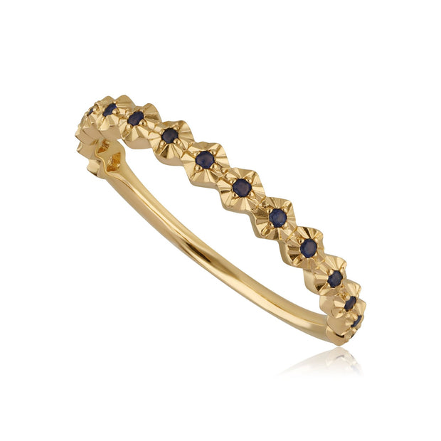 9ct Yellow Gold 0.090ct Sapphire Band Ring