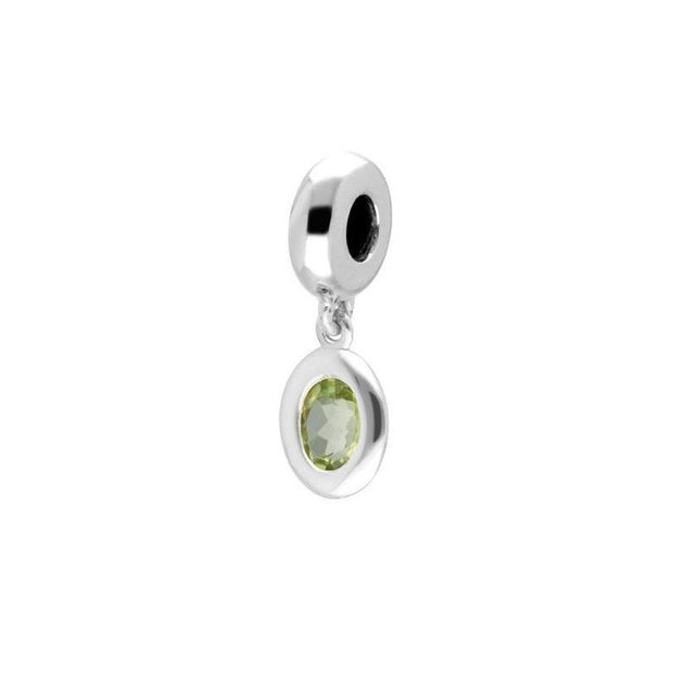 Sterling Silver Peridot Charm