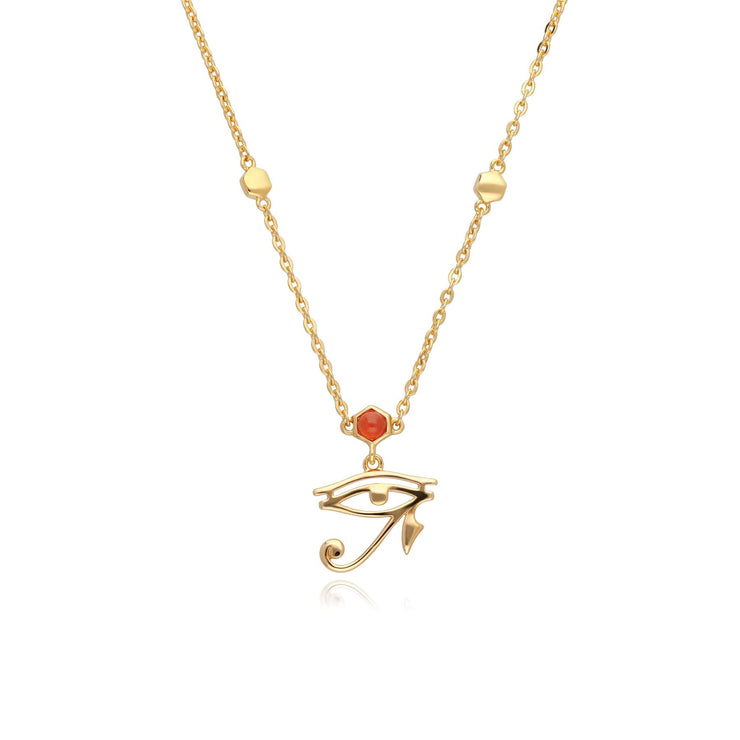ECFEW™ Carnelian Eye of Ra Necklace