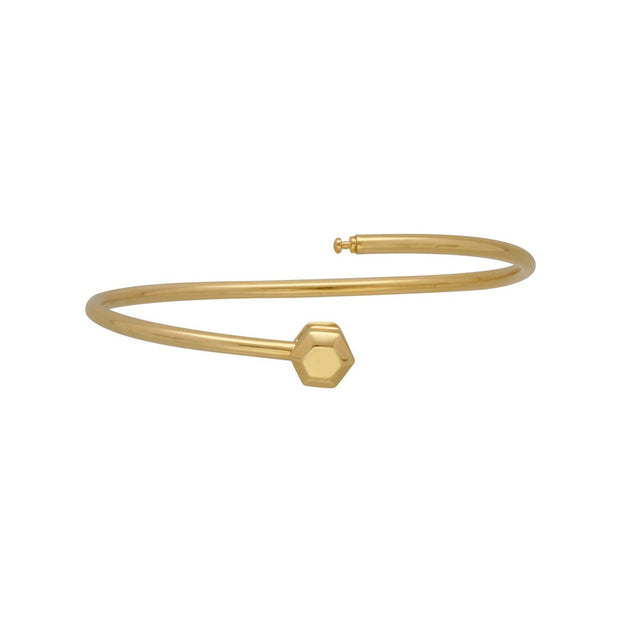 HS Achievement Bangle in gold plated sterling silver size large