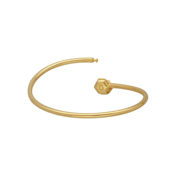 HS Achievement Bangle in gold plated sterling silver size medium 2