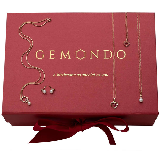 Gemondo July Birthstone Ruby Jewellery Hamper
