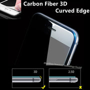 0.26mm Glossy 3D Curved Carbon Fiber Soft Edge Tempered Glass For IPhone 6 6S Plus Phone Screen Protector Film For IPhone 7 Plus