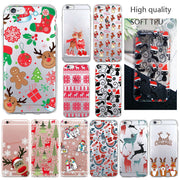 2019 New Year Gift Christmas Santa Claus Elk Snowman Phone Case For Huawei P8 Lite P10 Plus P9 Lite Mate 10 Lite Soft TPU Cover