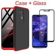 3-in-1 360 Tempered Glass + Case Huawei Mate 20 Lite Back Cover Anti-knock Case Huawei Mate 20 Pro Mate 20 Lite Funda Glass Gift