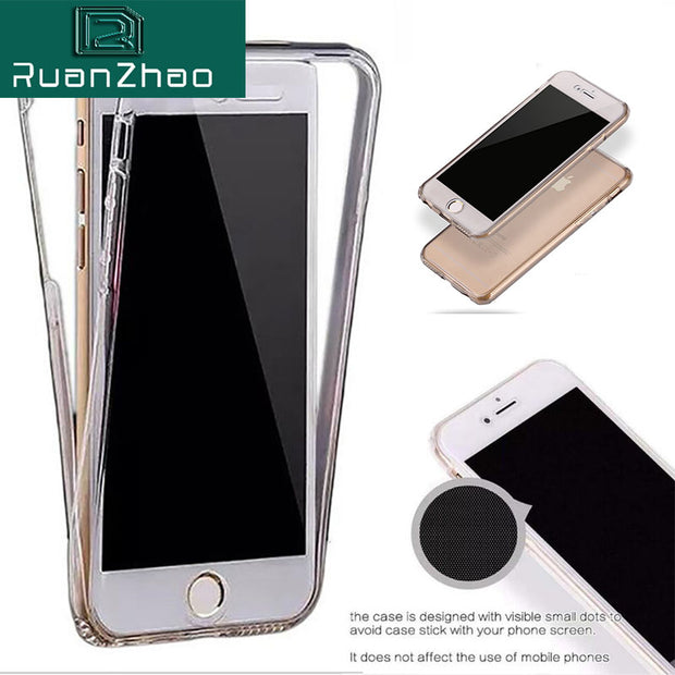 360 Ultra Thin Full Case For IPhone 6 Case 6s Plus 5S SE Coque Soft TPU Transparent Silicone Case For IPhone X Cases 7 8 Plus