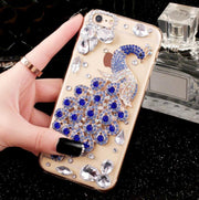 3D Bling Luxury Fundas Crystal Rhinestone Peacock Gem Diamond Soft Cover Case For Huawei P8 Ltie P9 PLUS P10 P20 Lite PLUS Capa