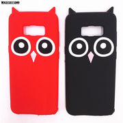 3D Cartoon Owl Bird Case For Samsung Galaxy S7edge S7 Edge S8 S8Plus Soft Silicone Back Cover For Galaxy S8 Plus Phone Cases