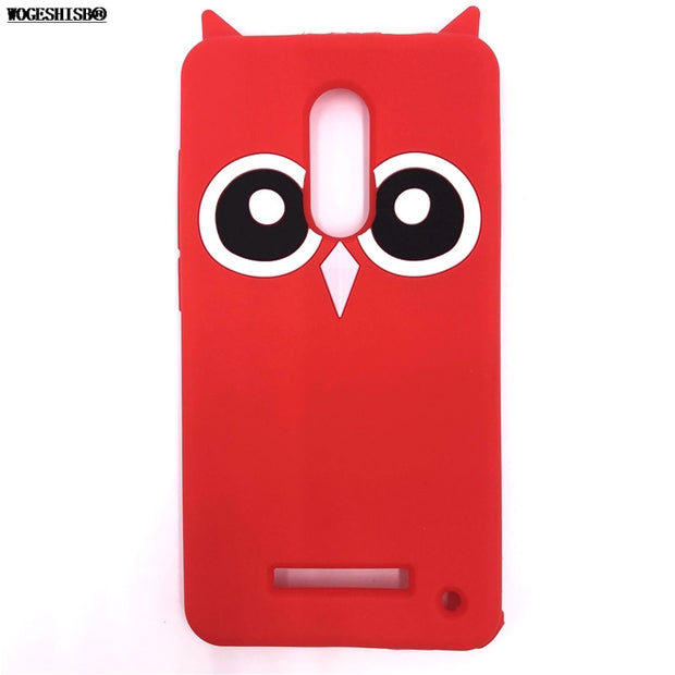 3D Cartoon Owl Bird Case For Xiaomi Redmi Red Mi Note4 Note 4 Soft Silicone Back Cover For Redmi Note4 Phone Cases