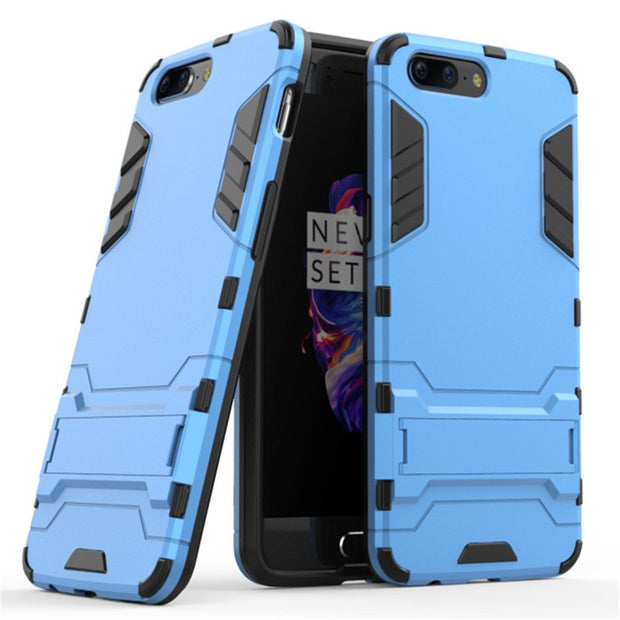 "3D Combo Armor Case For OnePlus 5 A5000 5.5"" For OnePlus 5T A5010 6.01"" Shockproof Phone Back Cover Case Fundas Coque Etui>"