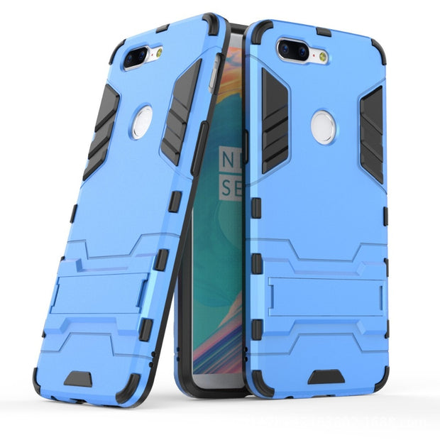 "3D Combo Armor Case For OnePlus 5T A5010 6.01"" For OnePlus 5 A5000 5.5"" Shockproof Phone Back Cover Case Fundas Coque Etui>"