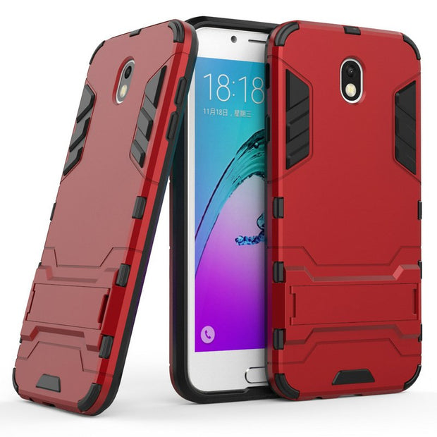 3D Combo Armor Case For Samsung Galaxy J7 2017 J7 Pro 2017 J730 J730F NOT US Shockproof Phone Back Cover Case Fundas Coque Etui>
