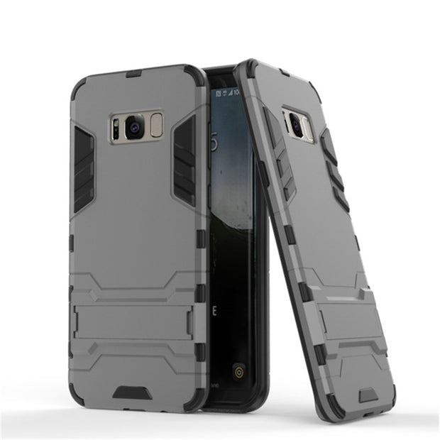 3D Combo Armor Case For Samsung Galaxy S8 G950 G950F G950N S8 Plus G955 Shockproof Phone Back Cover Case Fundas Coque Etui>
